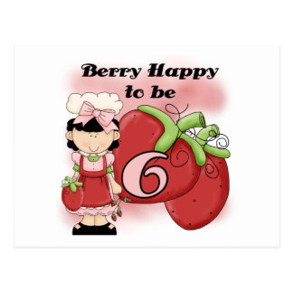 Black Berry 6th Birthday Tshirts and Gifts Postcard