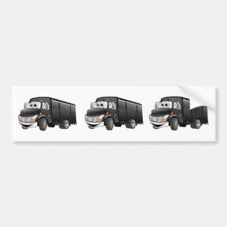 Black Beverage Truck Cartoon Bumper Sticker