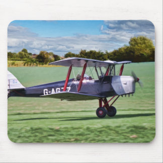 Black Bi Plane Mouse Pad