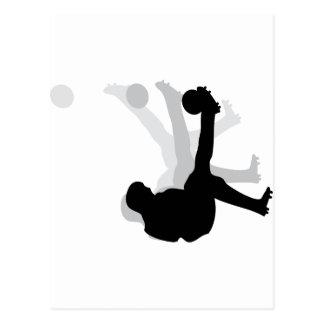black bicycle kick icon postcard