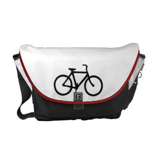 Black Bicycle Messenger Bag