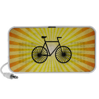 Black Bicycle Yellow Background PC Speakers