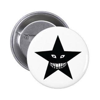 black big grin star button
