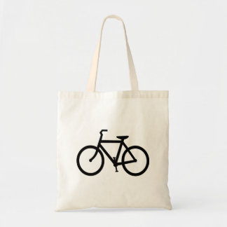 Black Bike Route Canvas Bags