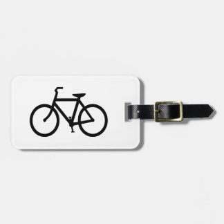 Black Bike Route Luggage Tag