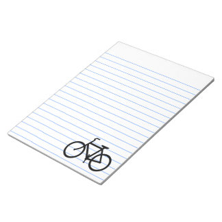 Black Bike Route Notepad