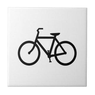 Black Bike Route Tile