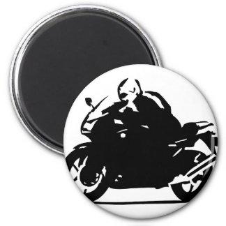 black biker icon motorcycle magnet