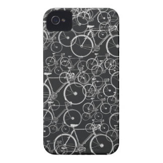 black bikes pattern ~ cycling Case-Mate iPhone 4 case