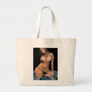 Black Bikini Large Tote Bag