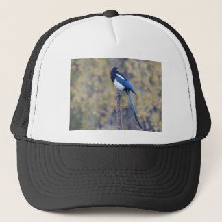 Black Billed Magpie Trucker Hat