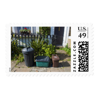 Black bin is for rubbish, residual waste, green postage stamps