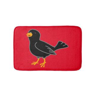 Black Bird Bath Mat Bath Mats
