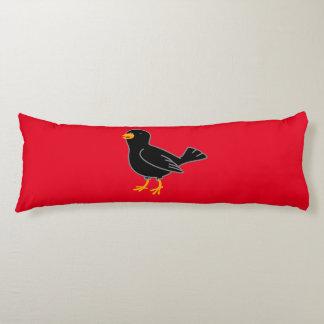 Black Bird Body Pillow