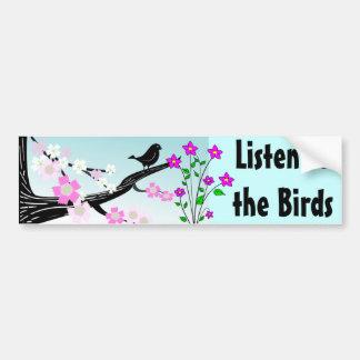black bird bumper sticker
