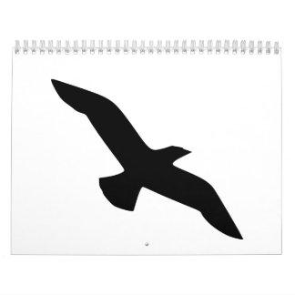 Black bird calendar