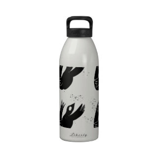 black bird flying crows drinking bottle