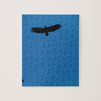 Black bird in a Blue Sky Puzzle