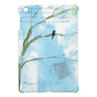 Black Bird In Tree Abstract Art Painting Cover For The iPad Mini