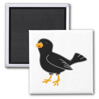 Black Bird 2 Inch Square Magnet
