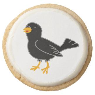 Black Bird Round Premium Shortbread Cookie