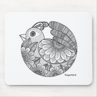 Black Bird Mouse Pad