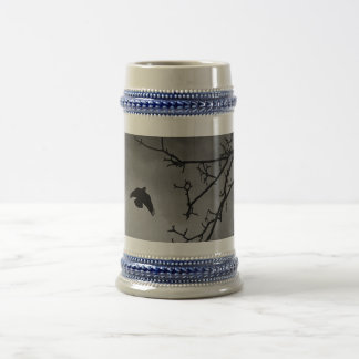 Black Bird Night Sky Beer Stein