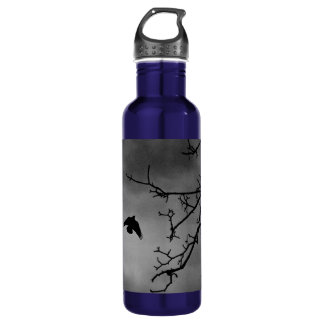 Black Bird Night Sky 24oz Water Bottle