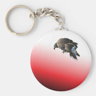 Black bird predator aggressive hawk key chains