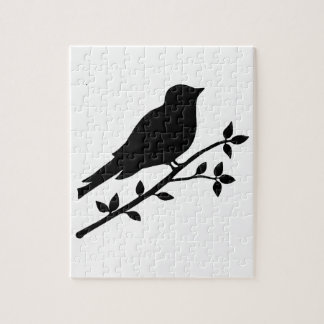 Black Bird Silhouette Jigsaw Puzzle