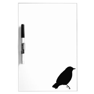 Black Bird Silhouette Unique Gift Present Dry-Erase Boards