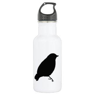 Black Bird Silhouette Unique 18oz Water Bottle