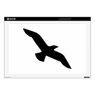 Black bird laptop decal