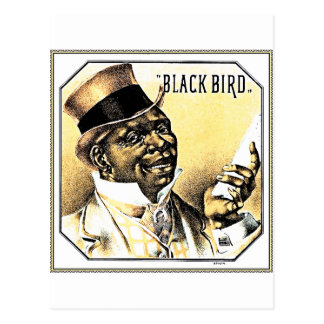 Black Bird Vintage Cigar Box Art Postcard