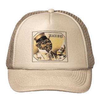 Black Bird Vintage Cigar Box Art Trucker Hat