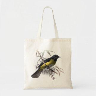Black bird vintage natural history illustration tote bag