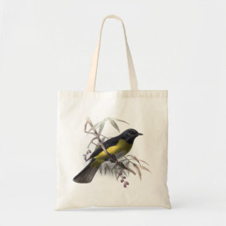 Black bird vintage natural history illustration tote bag