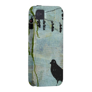"""Black Bird with Stoplight """"eccentric caricature"""" Vibe iPhone 4 Covers"""
