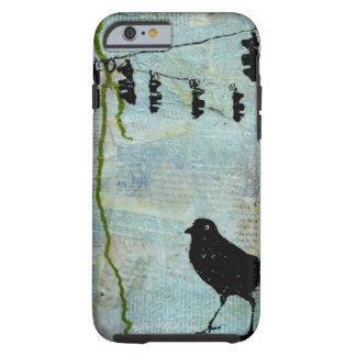 "Black Bird with Stoplight ""eccentric caricature"" Tough iPhone 6 Case"