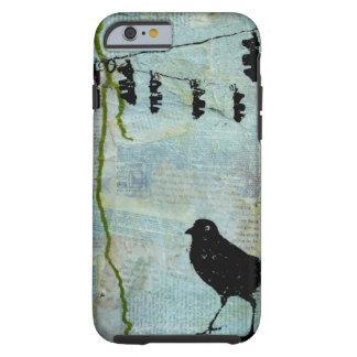 "Black Bird with Stoplight ""eccentric caricature"" Tough iPhone 6 Case"