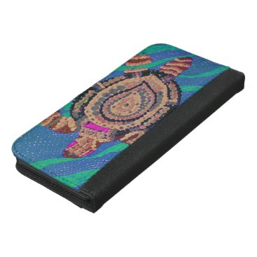 Ocean Themed Black Birds and Emeralds 2 iPhone 6/6s Plus Wallet Case