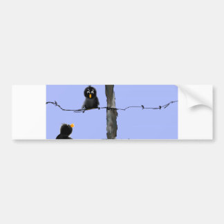 Black Birds Bumper Sticker