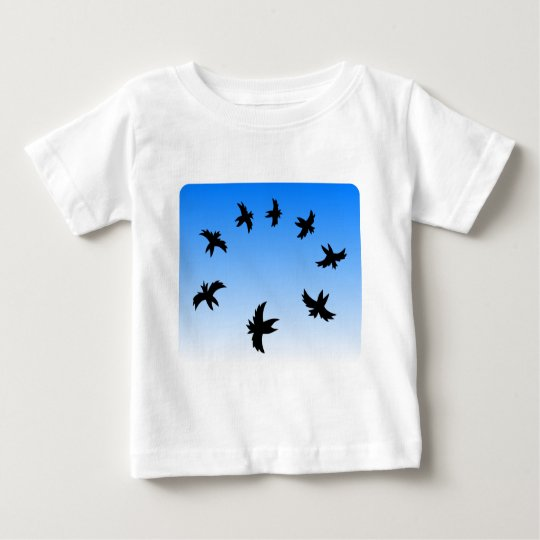 Black Birds in the Sky Baby T-Shirt