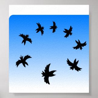Black Birds in the Sky Poster