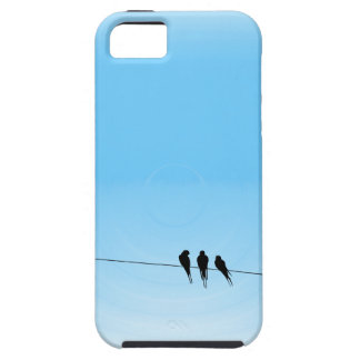 Black Birds on a Wire Blue iPhone SE/5/5s Case