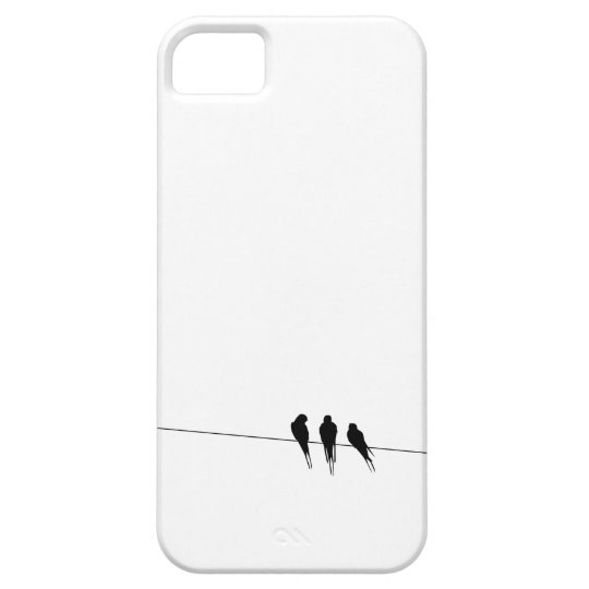 Black Birds on a Wire iPhone SE/5/5s Case