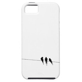 Black Birds on a Wire Night iPhone 5 Covers