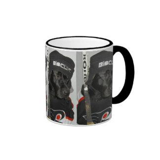 Black Biscuit Ice Hockey Black Lab Coffee Mug