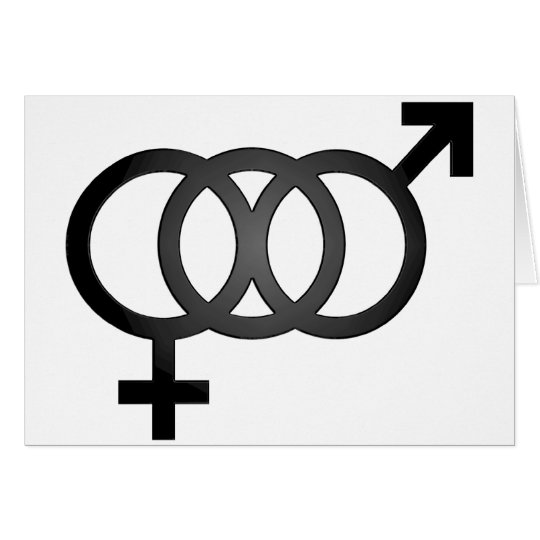 Black Bisexual Symbol Card