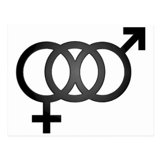 Black Bisexual Symbol Postcard